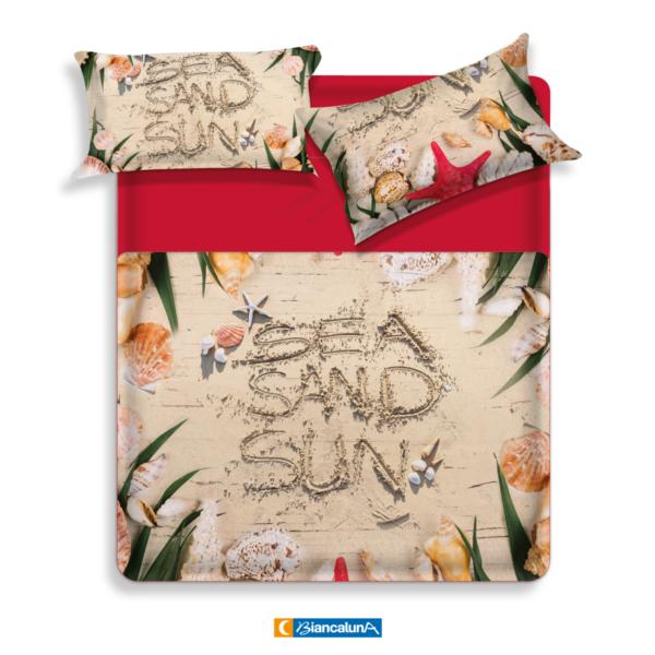 Lenzuola Matrimoniali Walt Disney.Biancaluna Coppia Lenzuola Copriletto Maxi 260 X 300 Cm Sand